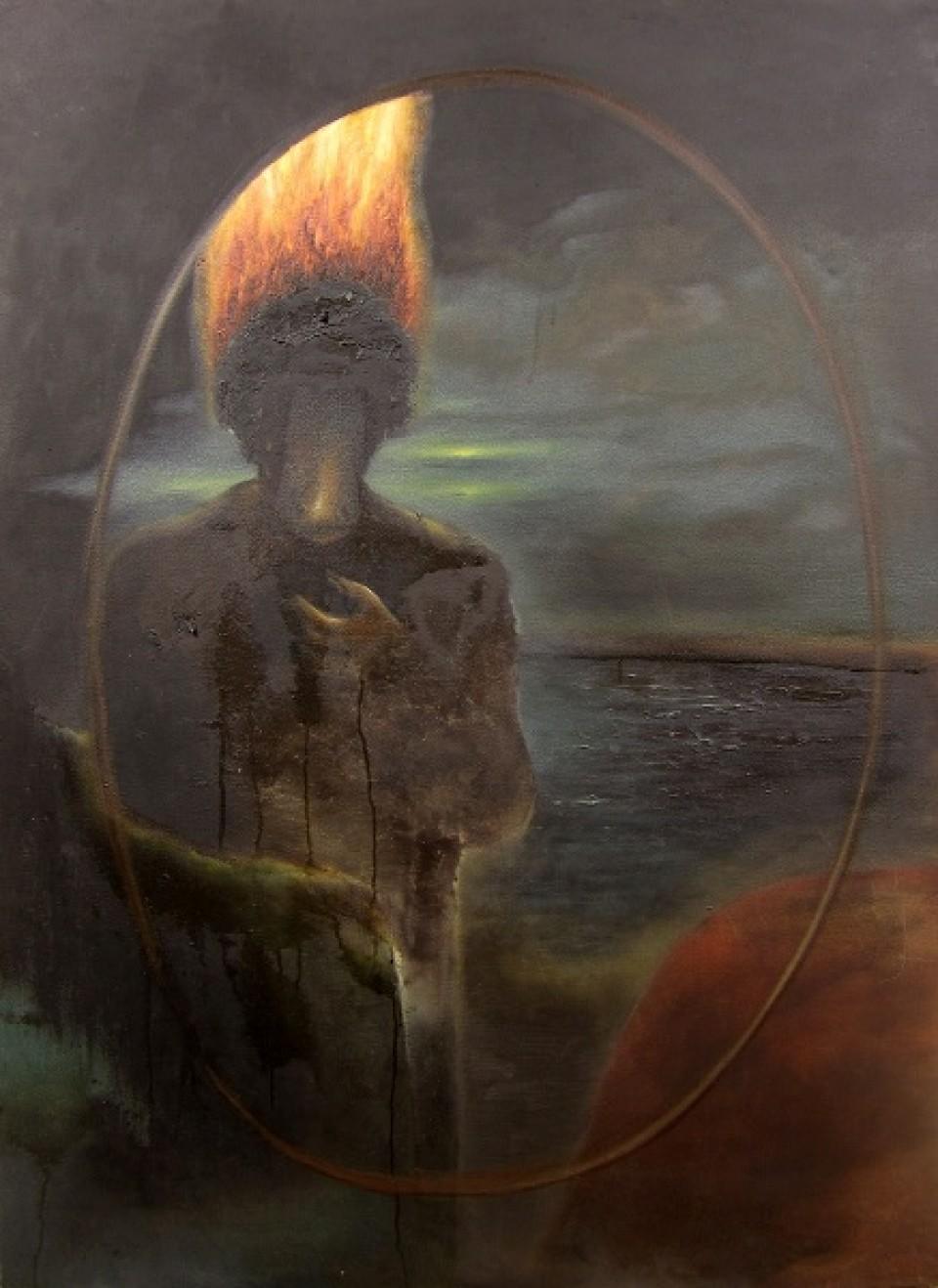 Woman on the Beach. 2012. Oil on canvas.125x90 cm.