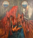 Erhan Özışıklı - Children on a Ship, Baby, Mixed media on canvas, 180 x 160 cm, 2012
