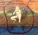 Erhan Özışıklı - Man on Pier, Oil on canvas, 165 x 180 cm, 2012