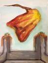 Erhan Özışıklı - Head, Mixed media on canvas, 50 x 38 cm, 2013
