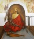 Erhan Özışıklı - Young Man, Fish, Mixed media on canvas, 180 x 160 cm, 2012