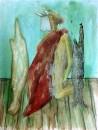 Erhan Özışıklı - Young Man , Mixed media on paper, 50 x 38 cm, 2013