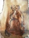 Çınar Eslek - Twins, Drawing and watercolor, 21 x 30 cm, 2019