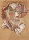 Mehmet Güleryüz - Portrait II,  Acrylic on maruflage craft paper ,  135 x 98 cm, 2004
