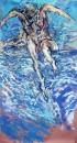 Mehmet Güleryüz -  Childish Enthusıasm ,  Acrylic on maruflage craft paper , 200 x 107 cm, 2000