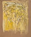 Mehmet Güleryüz - Secret Portrait III ,  Acrylic on maruflage craft paper , 115 x 94 cm, 2005